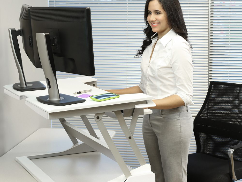 Ergotron WorkFit T Sit Stand desktop workstation