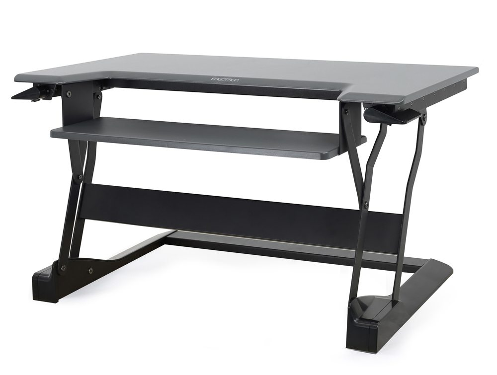 Ergotron WorkFit T Sit Stand desktop workstation in black