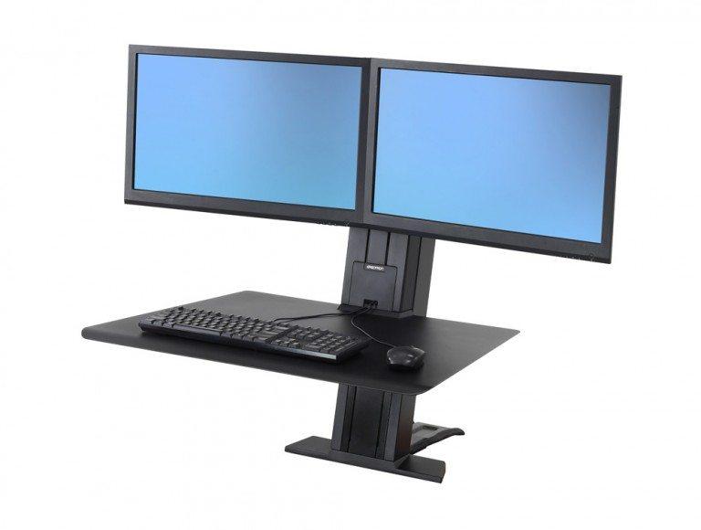 Ergotron WorkFit-SR Dual Monitor Sit Stand Workstation