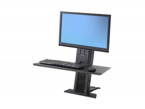 Ergotron WorkFit-SR Sit Stand Workstation with Short Work-surface