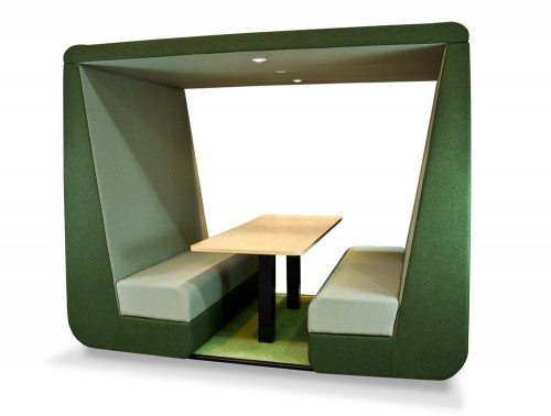 Bob 6 seat meeting den without Wall in green for Noise Control