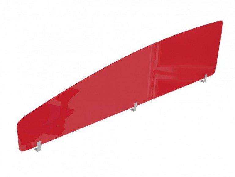 Acrylic Desk Mounted Curve Top