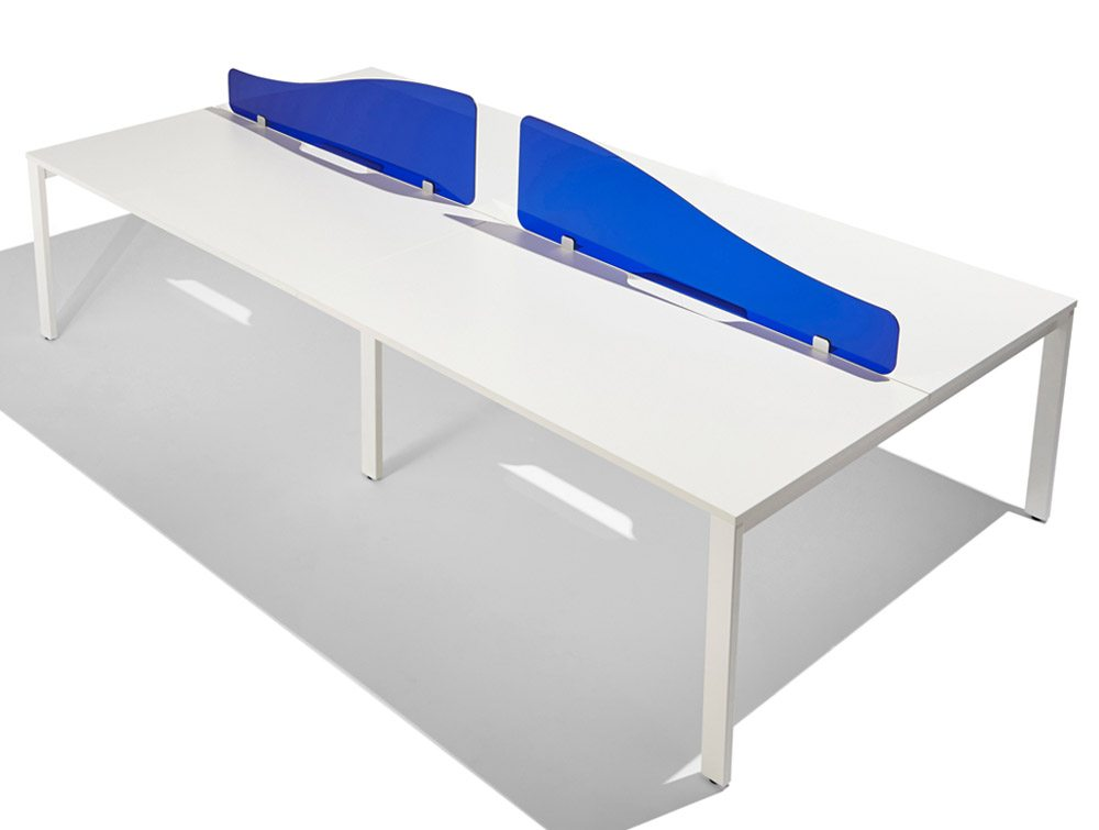 Acrylic Desk Screen Curved Top