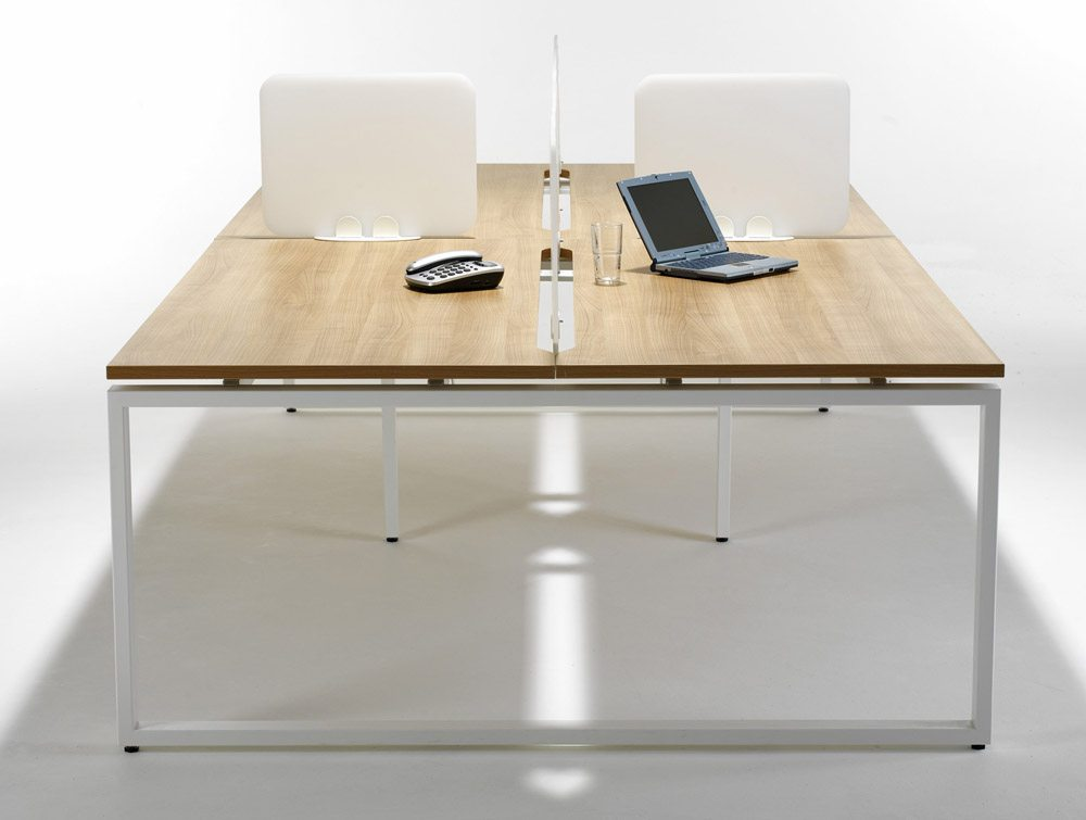 Acrylic Straight Desk Screen in White