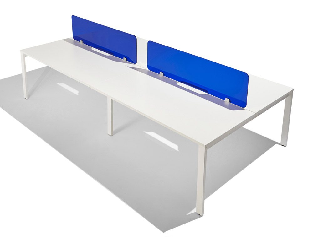 Acrylic Desk Mounted Screen Curved