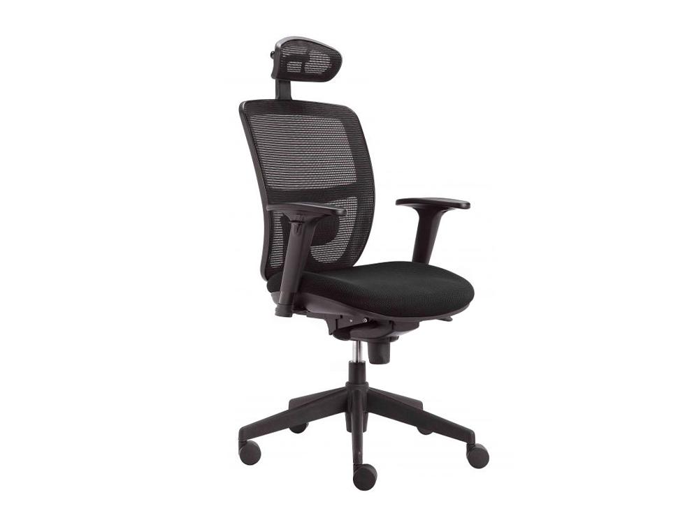 Action Ergonomic Task Black Mesh Chair