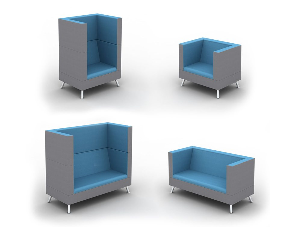 Ad-Hoc Sofa Meeting Pod Different Configurations