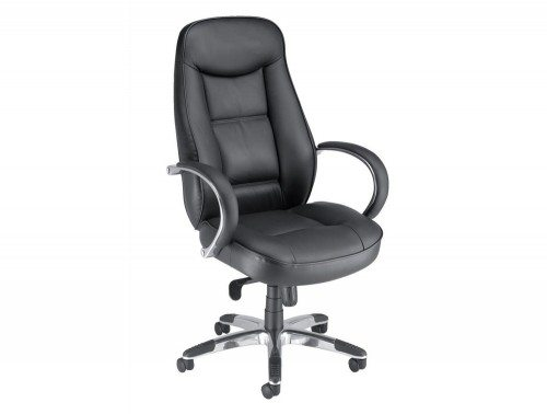 Adroit Executive Languedoc Armchair in Black Leather