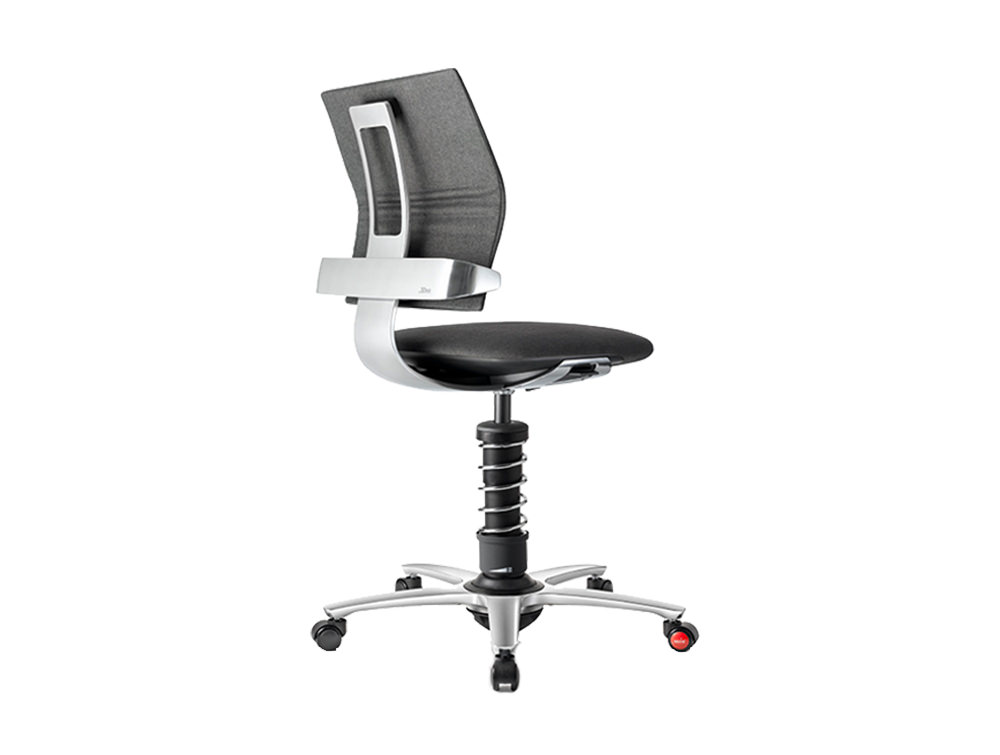 Aeris 3Dee Active Office Chair - Grey - Chrome Finish - Chrome Base