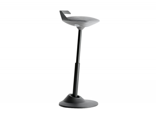 Aeris-Muvman-Active-Sit-Stand-Stool-with-Black-Base-and-Grey-Seat