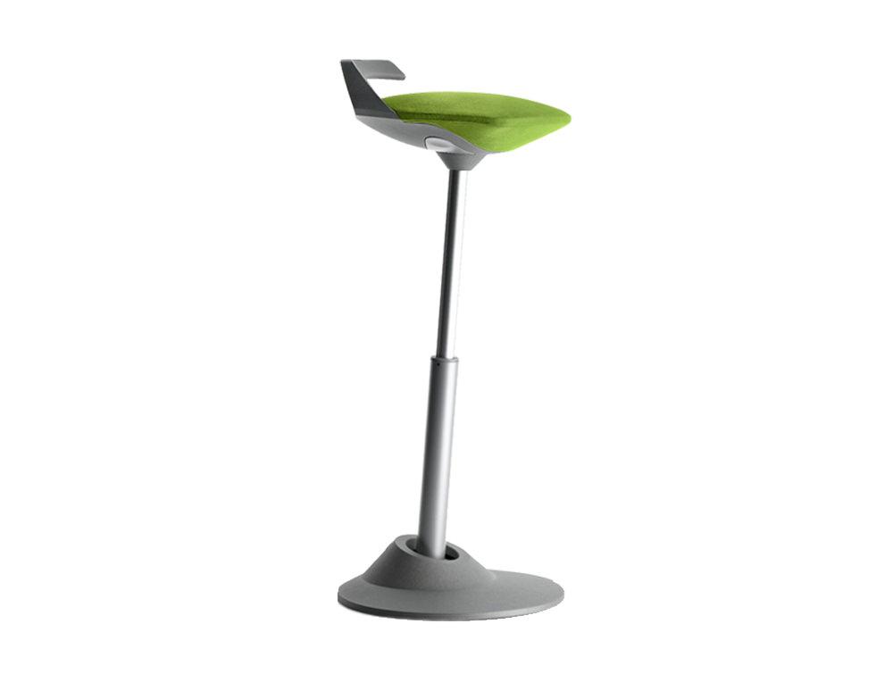 Aeris Muvman Active Sit-Stand Stool - Lime Green - Light Grey Base