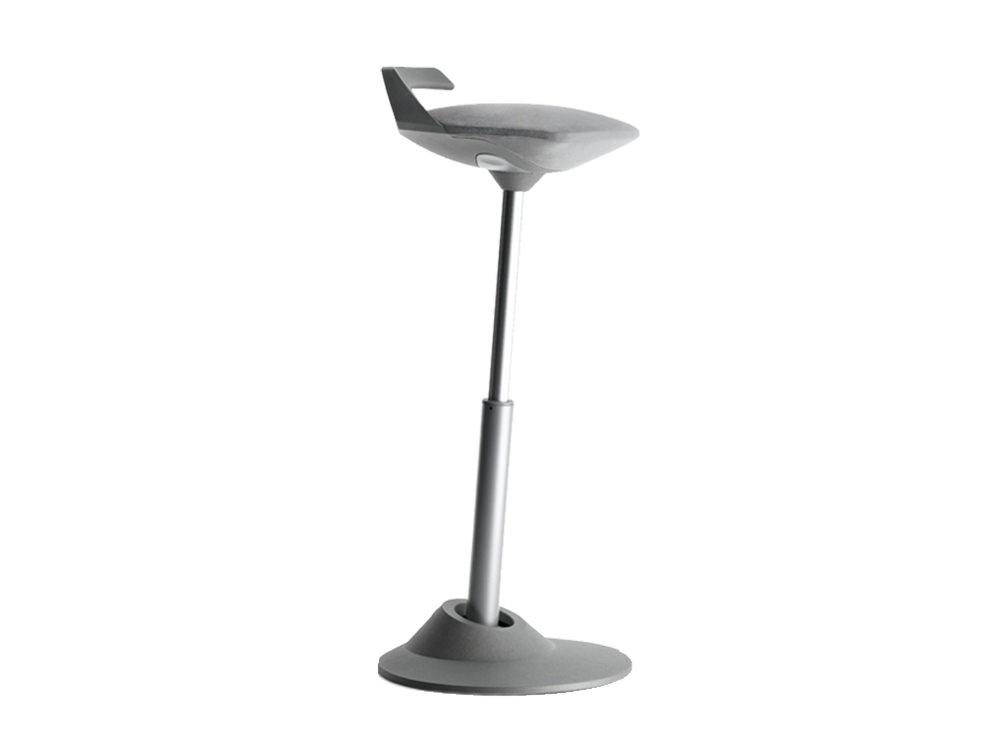 Aeris Muvman Active Sit-Stand Stool - Grey - Light Grey Base