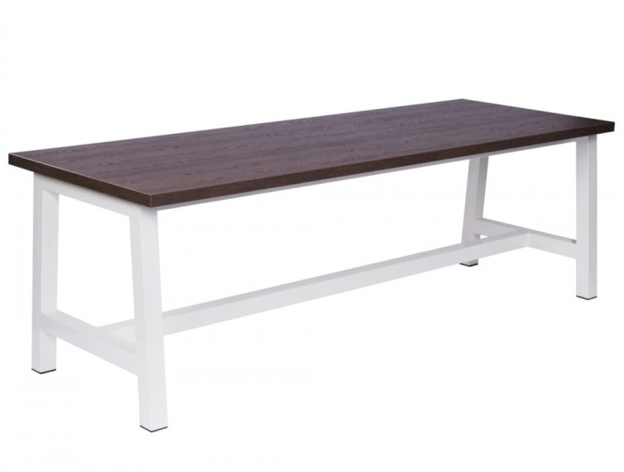 Apex Large Canteen Table in Walnut and White Finishes