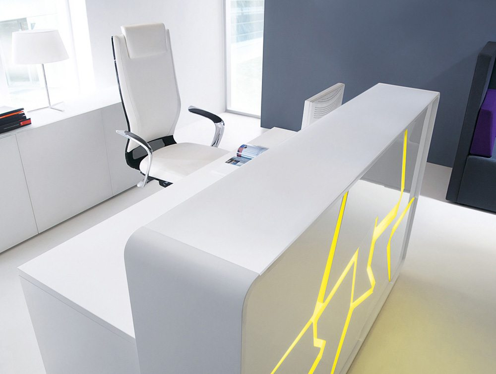 Arctic Summer High Gloss Reception Desk