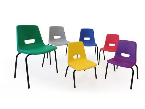 Arthur Polypropelene 4 Leg School Chair Different Sizes and Colours