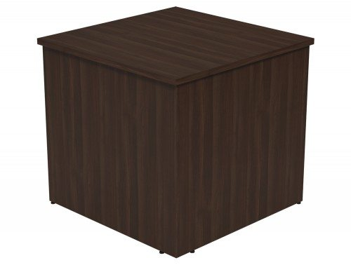 Ashford Modular Reception 90 Degree Corner Desk DW in Dark Walnut