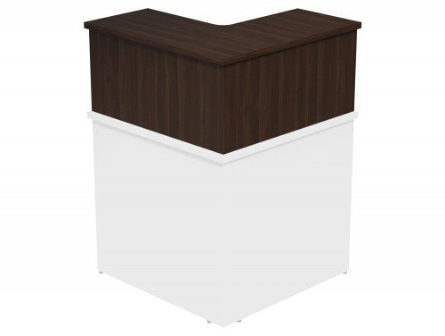 Ashford Modular Reception 90 Degree Corner Riser DW in Dark Walnut