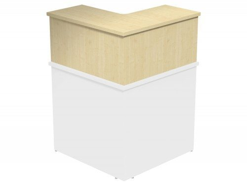 Ashford Modular Reception 90 Degree Corner Riser MP in Maple