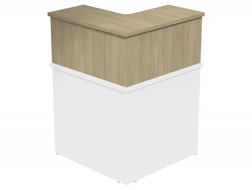 Ashford Modular Reception 90 Degree Corner Riser UO in Urban Oak