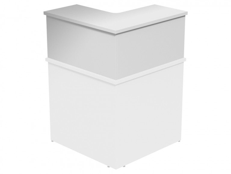Ashford Modular Reception 90 Degree Corner Riser WH in White