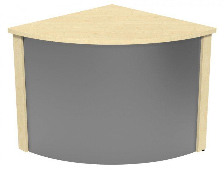 Ashford Modular Reception Corner Metal Desk MP-SLV in Maple