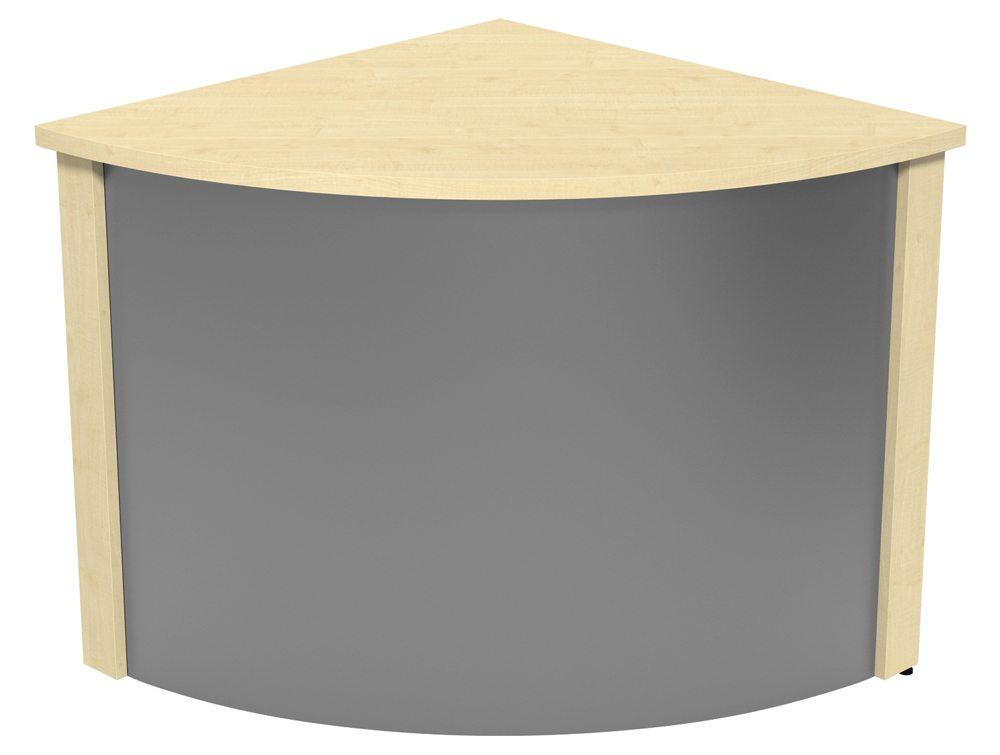 Ashford Reception Corner Metal Desk In Maple