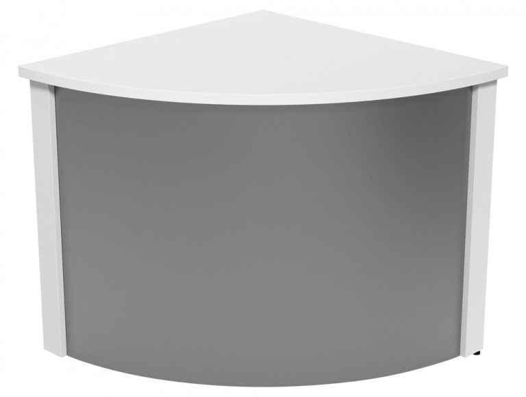 Ashford Modular Reception Corner Metal Desk WH-SLV in White