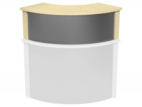 Ashford Modular Reception Corner Metal Riser MP-SLV in Maple