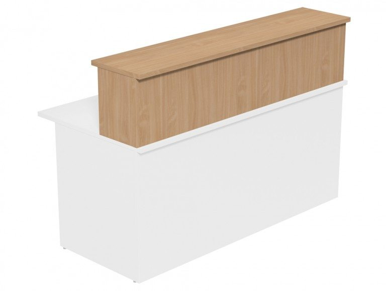Ashford Modular Reception Desk Riser 1600-BE in Beech