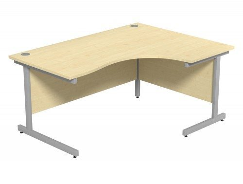 Ashford Budget Metal Leg Crescent Desk SLV-MP-R-1612 in Maple