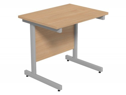 Ashford Budget Metal Leg Return Desk SLV-BE in Beech