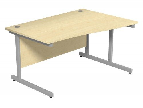 Ashford Budget Metal Leg Wave Desk SLV-MP-R-1410 in Maple