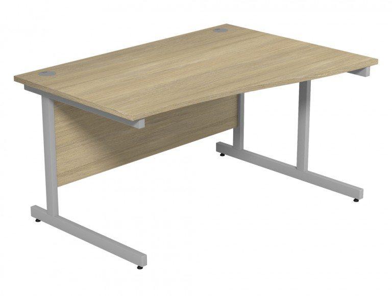 Ashford Budget Metal Leg Wave Desk SLV-UO-R-1410 in Urban Oak
