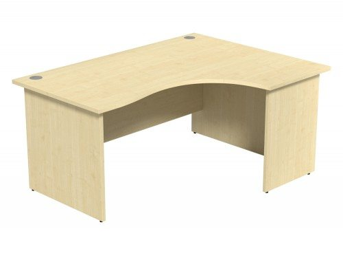 Ashford Budget Panel Leg Crescent Desk MP-R-1612 in Maple