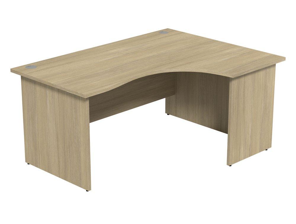 Ashford Budget Panel Leg Crescent Desk UO-R-1612 in Urban Oak