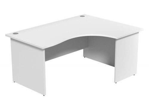 Ashford Budget Panel Leg Crescent Desk WH-R-1612 in White