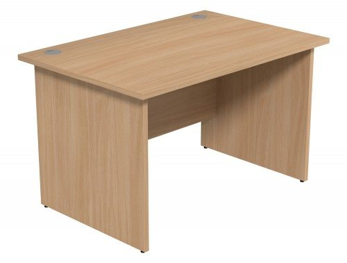 Ashford Budget Panel Leg Straight Desk BE-1280 in Beech