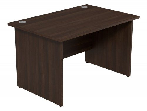 Ashford Budget Panel Leg Straight Desk DW-1280 in Dark Walnut