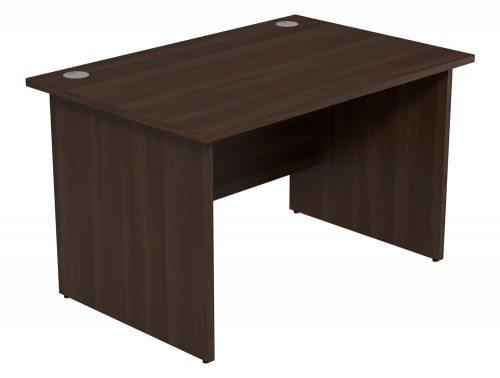 Ashford Budget Panel Leg Straight Desk DW-1280 in Dark Walnut