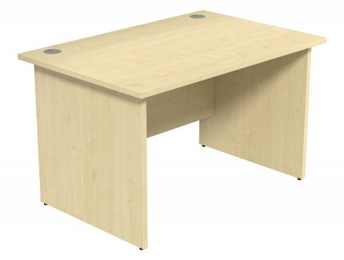 Ashford Budget Panel Leg Straight Desk MP-1280 in Maple