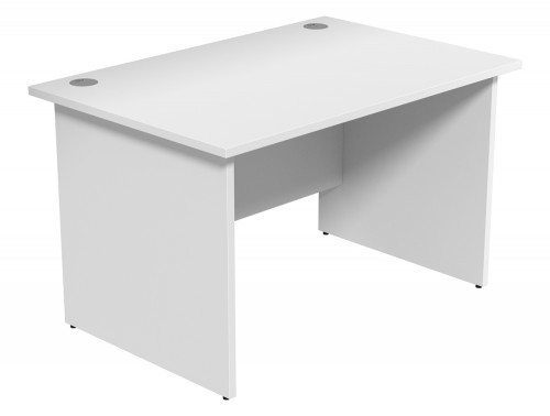 Ashford Budget Panel Leg Straight Desk WH-1280 in White