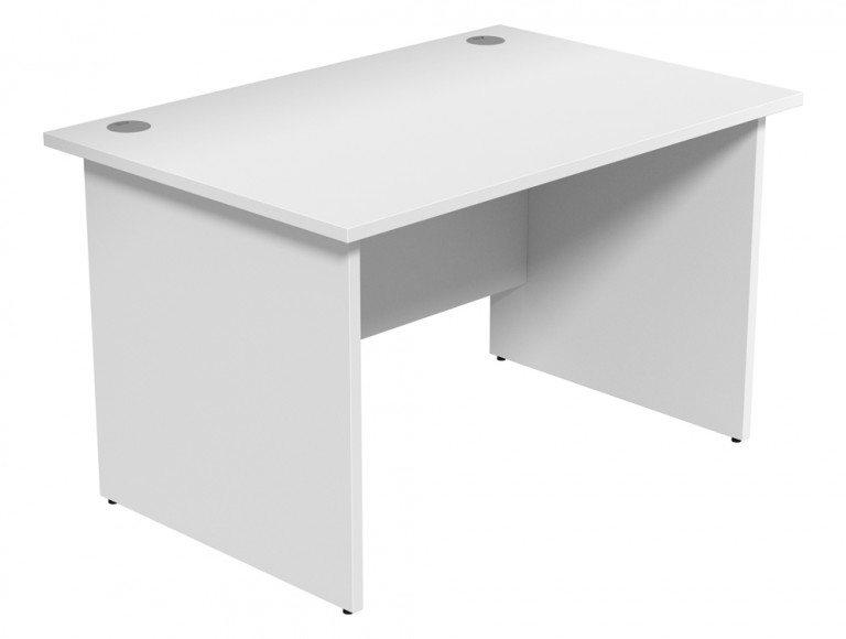 Ashford Budget Panel Leg Straight Desk WH-1280 in White