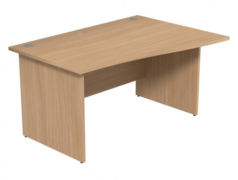 Ashford Budget Panel Leg Wave Desk BE-R-1410 in Beech
