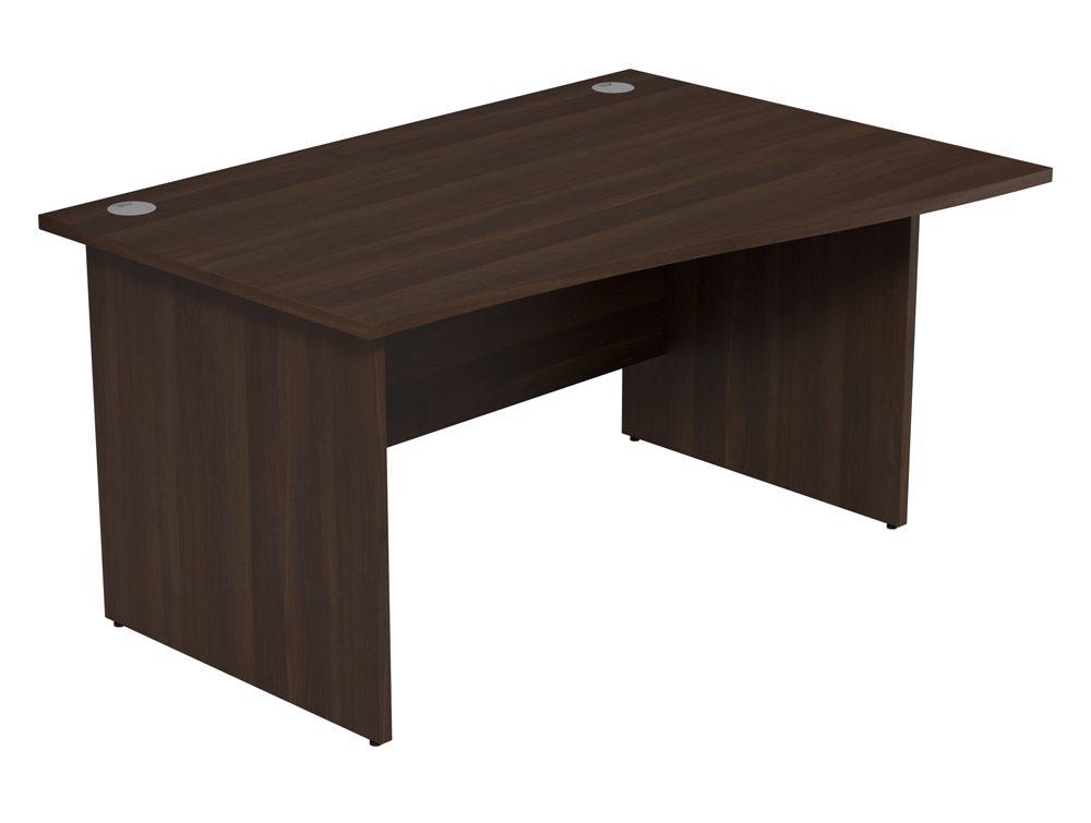 Ashford Budget Panel Leg Wave Desk DW-R-1410 in Dark Walnut