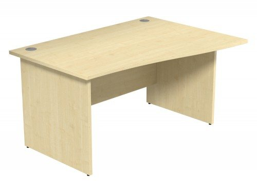 Ashford Budget Panel Leg Wave Desk MP-R-1410 in Maple