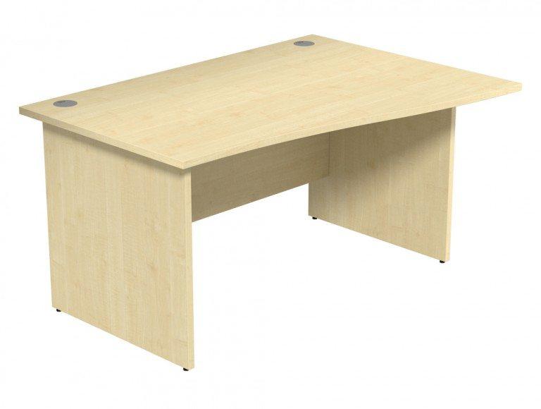 Ashford Budget Panel Leg Wave Desk MP-R-1410 in Maple