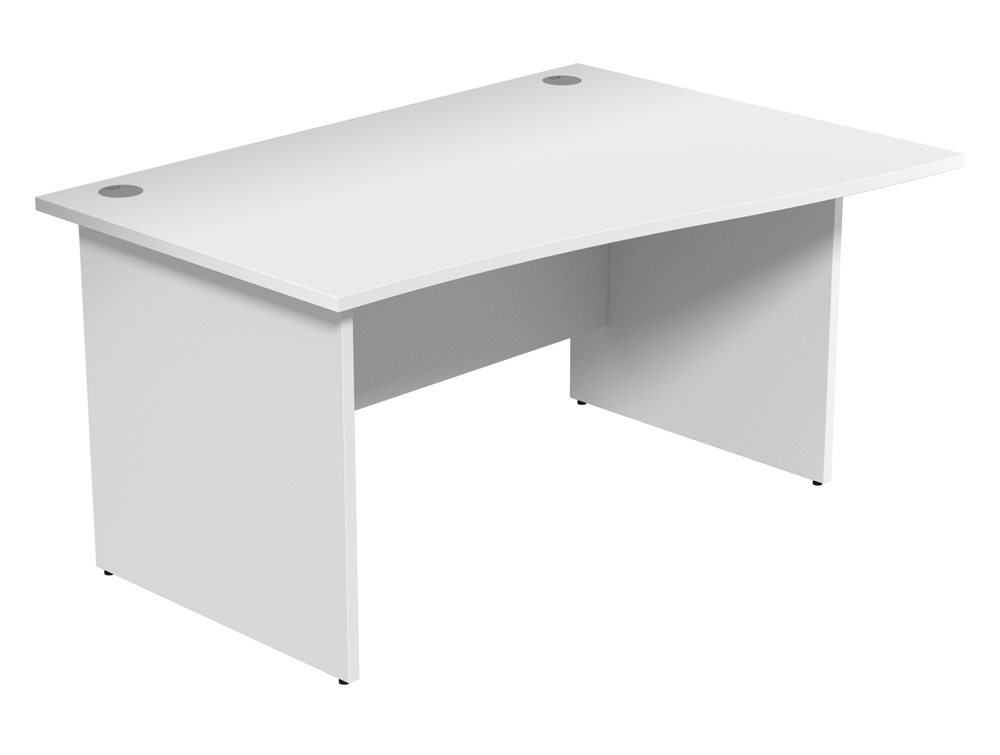 Ashford Budget Panel Leg Wave Desk WH-R-1410 in White