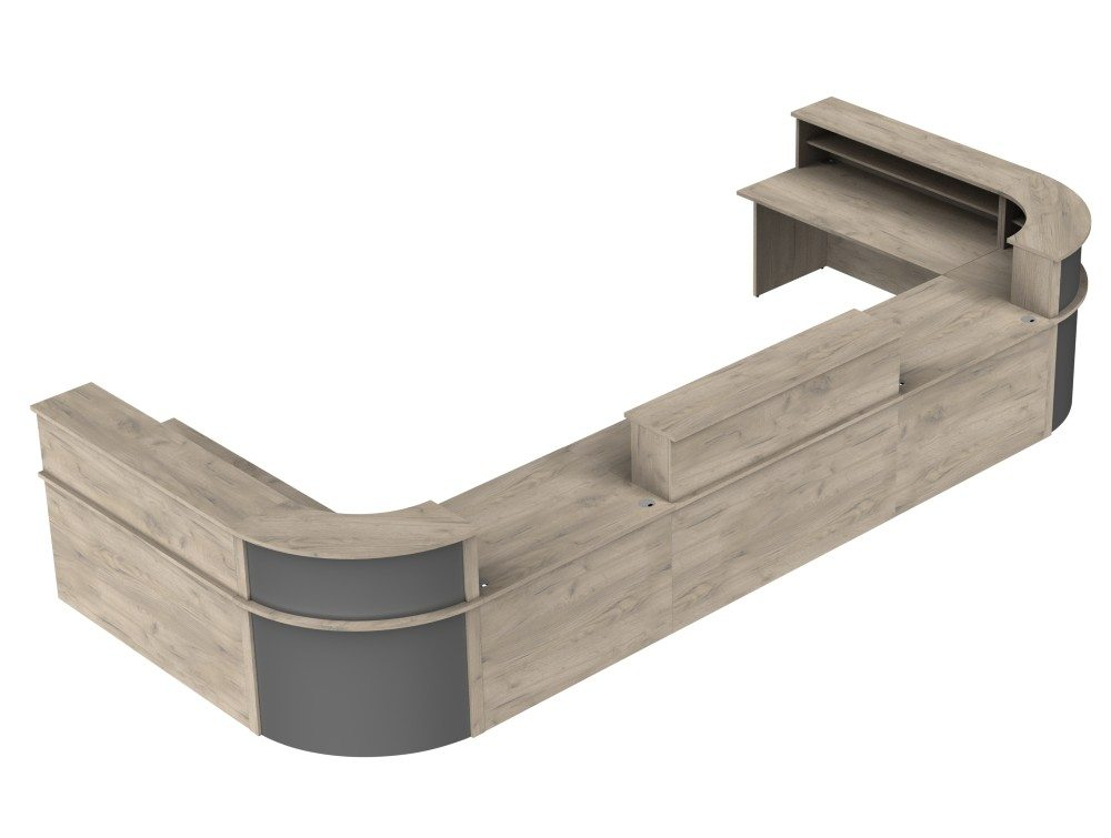 Ashford Reception Configuration 5 in Grey Craft Oak and Anthracite