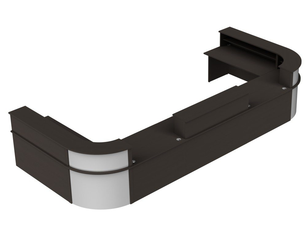 Ashford Reception Configuration 5 in Wenge and Silver