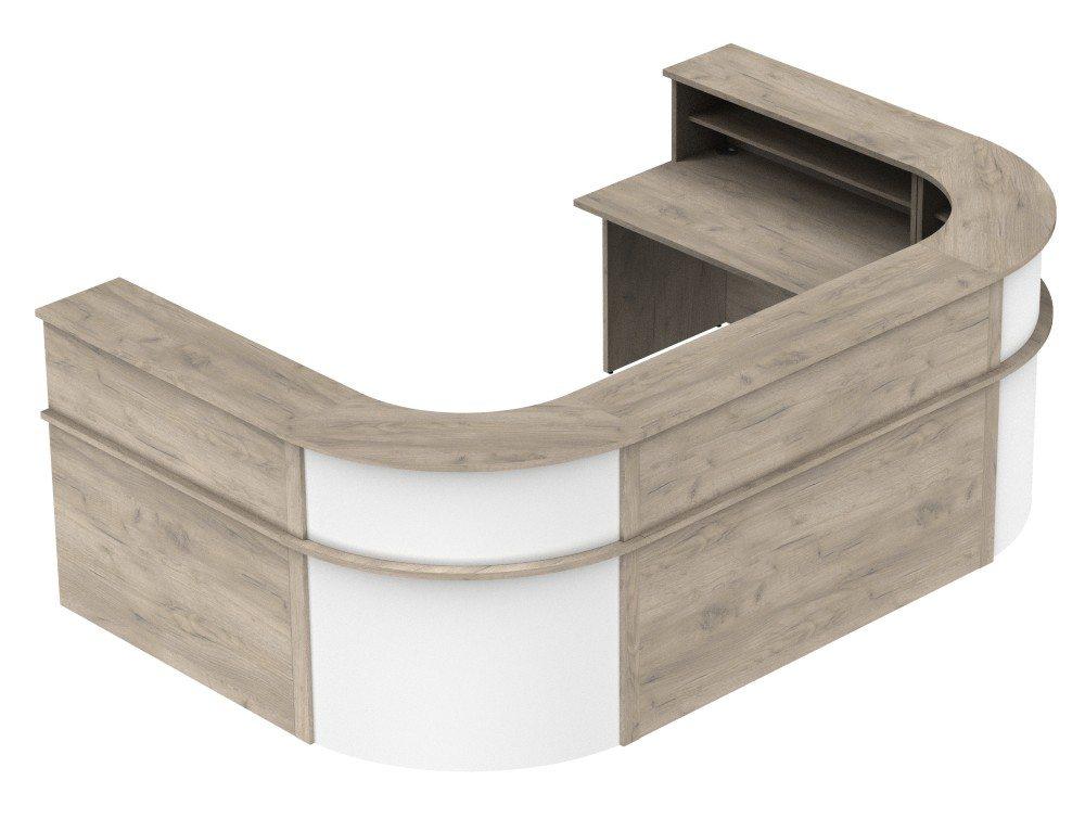 Ashford Reception Configuration 6 in Grey Craft Oak and White